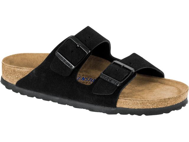 Birkenstock Arizona Soft Footbed Sandals Suede Leather Narrow Women, zwart